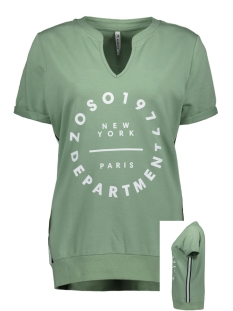 Zoso T-shirt SUSAN SWEATER WITH PRINT 192 SAGE/WHITE