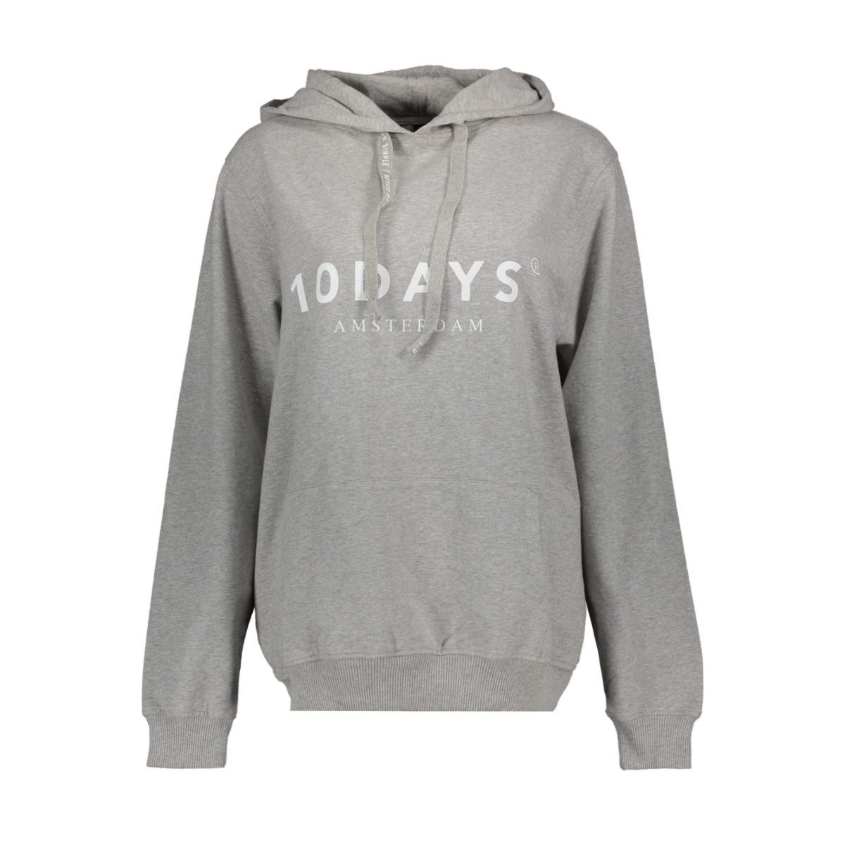 the hoodie 21 851 9900 10 days sweater light grey melange