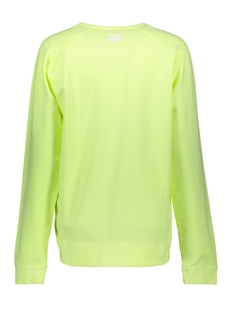 the crew neck sweater 20 810 9102 10 days sweater faded fluor yellow