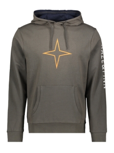 Haze & Finn sweater HOODY MU10 0422 ESPRESSO
