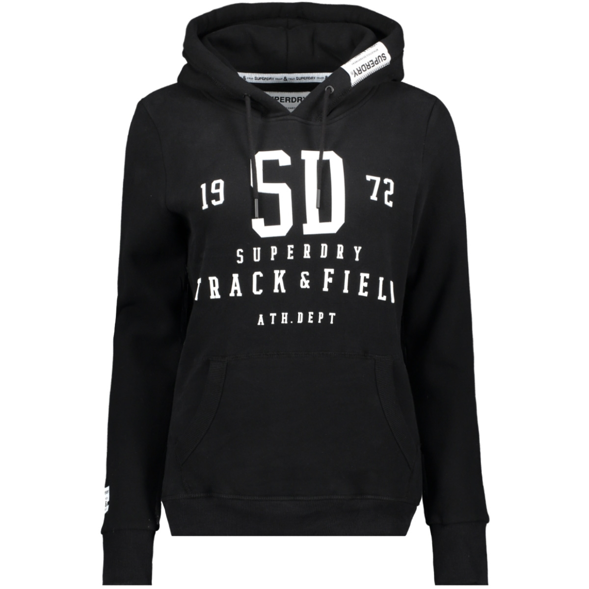 track and field hood w2000049a superdry sweater black