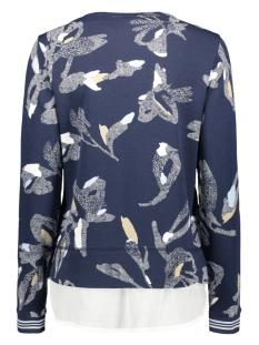 sweater met all over print 21201304 sandwich sweater 40115