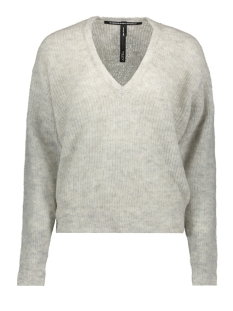 10 Days Trui LIGHT KNIT SWEATER V NECK 20 606 9103 LIGHT GREY MELEE