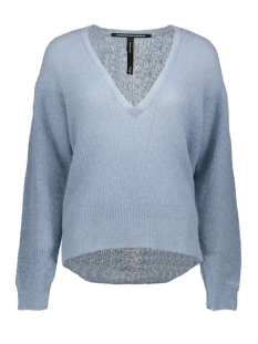 10 Days Trui LIGHT KNIT SWEATER V NECK 20 606 9103 GREY BLUE