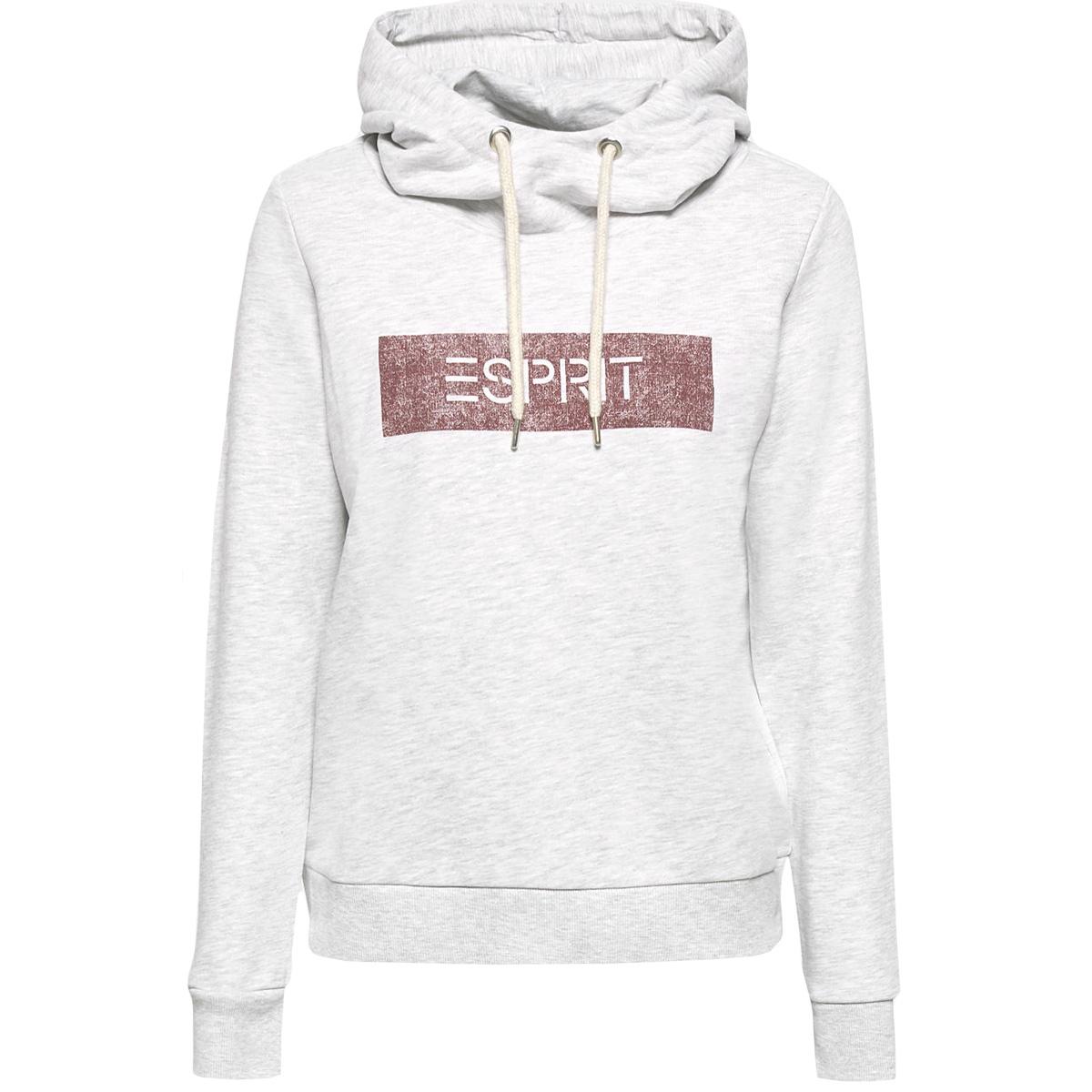 gemeleerde jersey hoody 089ee1j012 esprit sweater e044