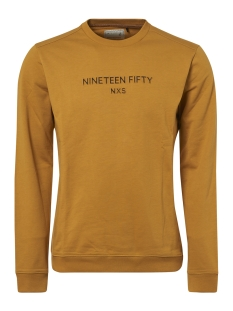 NO-EXCESS sweater CREWNECK SWEATER WITH LOGO 92130750 074 Ocre