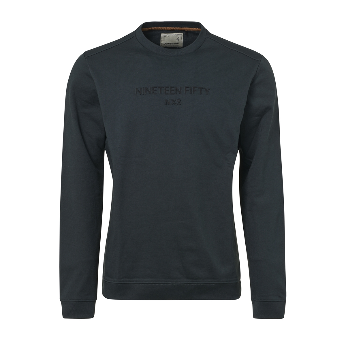 crewneck sweater with logo 92130750 no-excess sweater 157 dk seagreen