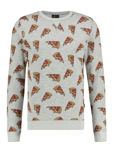Kultivate sweater SW PIZZA 1901031007 153 Light Grey Melange