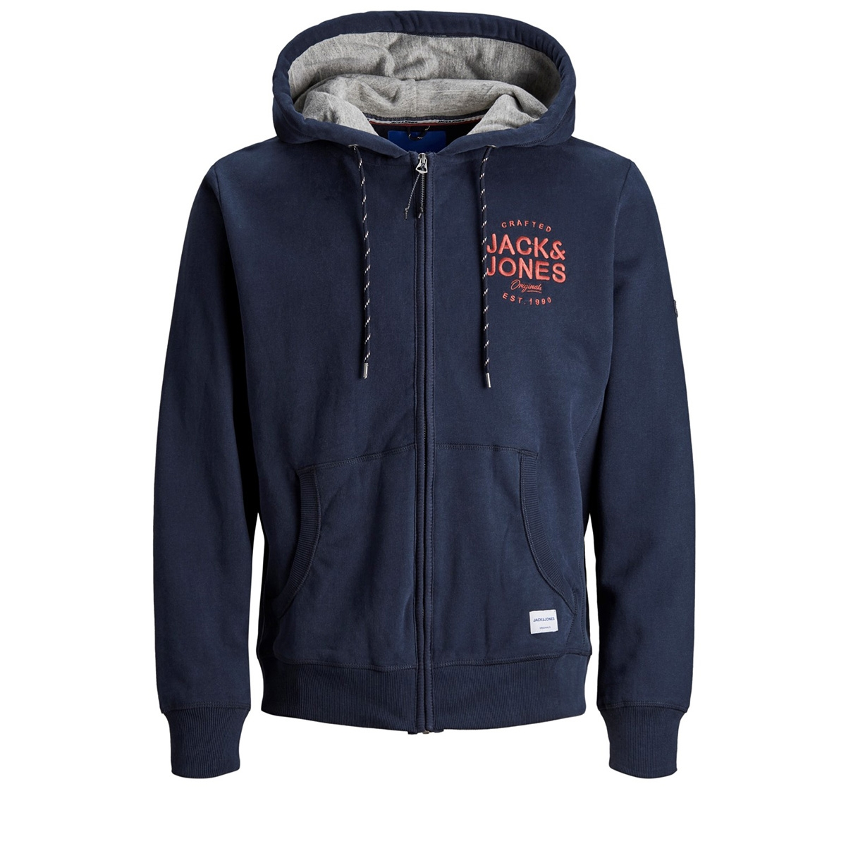 jorupton sweat zip hood 12158175 jack & jones vest navy blazer