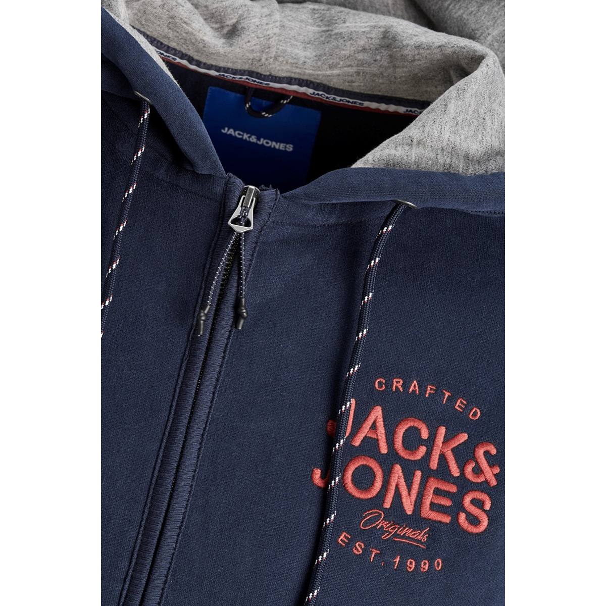 jorupton sweat zip hood 12158175 jack & jones vest navy blazer