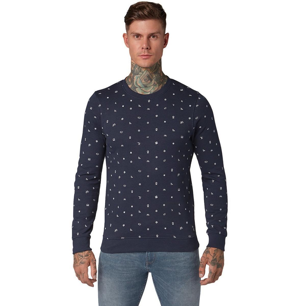 sweater met allover print 1013812xx12 tom tailor sweater 19739