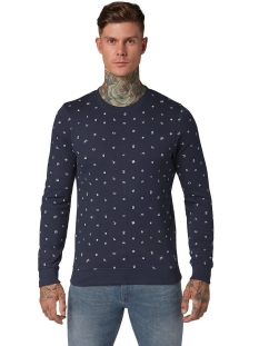 sweater met allover print 1013812xx12 tom tailor sweater 19739