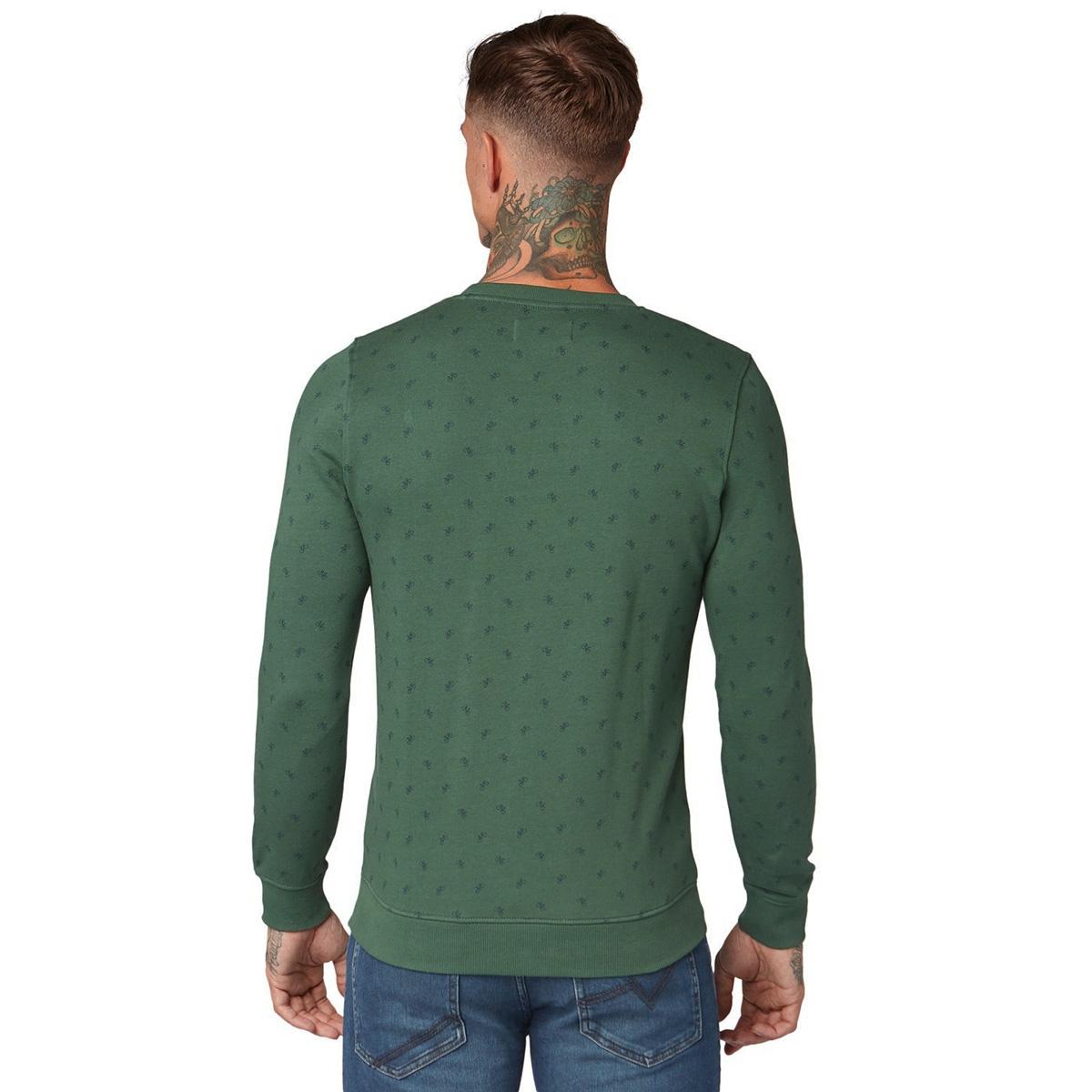 sweater met allover print 1013812xx12 tom tailor sweater 19881