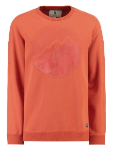 Garcia sweater SWEATER MET OPDRUK I91064 2729 Storm Orange
