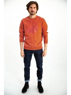 sweater met opdruk i91064 garcia sweater 2729 storm orange