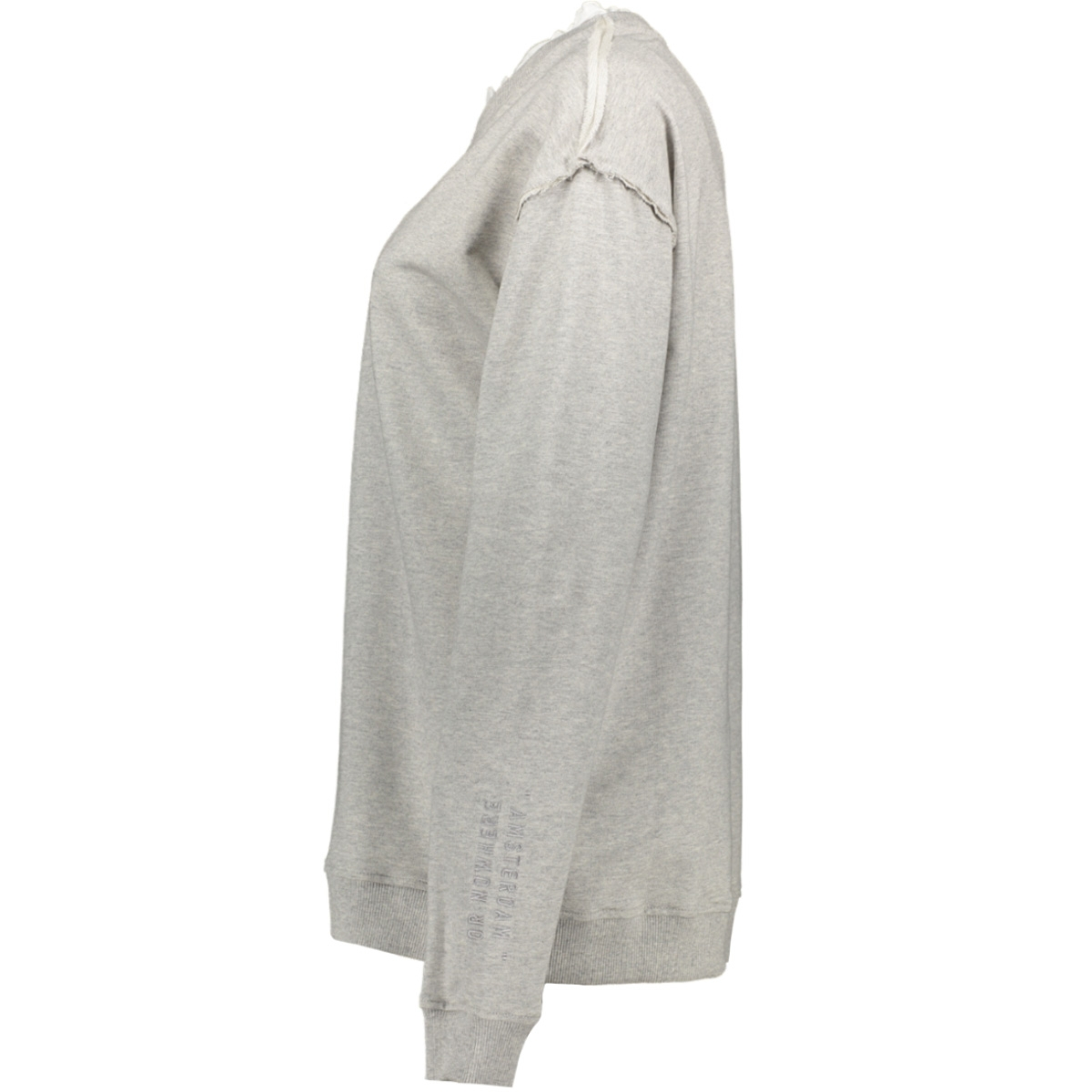 sweater ruffles 20 818 8103 10 days sweater light grey melee
