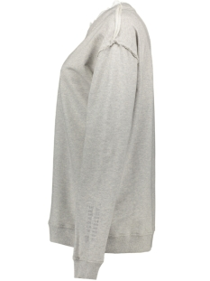 sweater ruffles 20 818 8103 10 days trui light grey melee