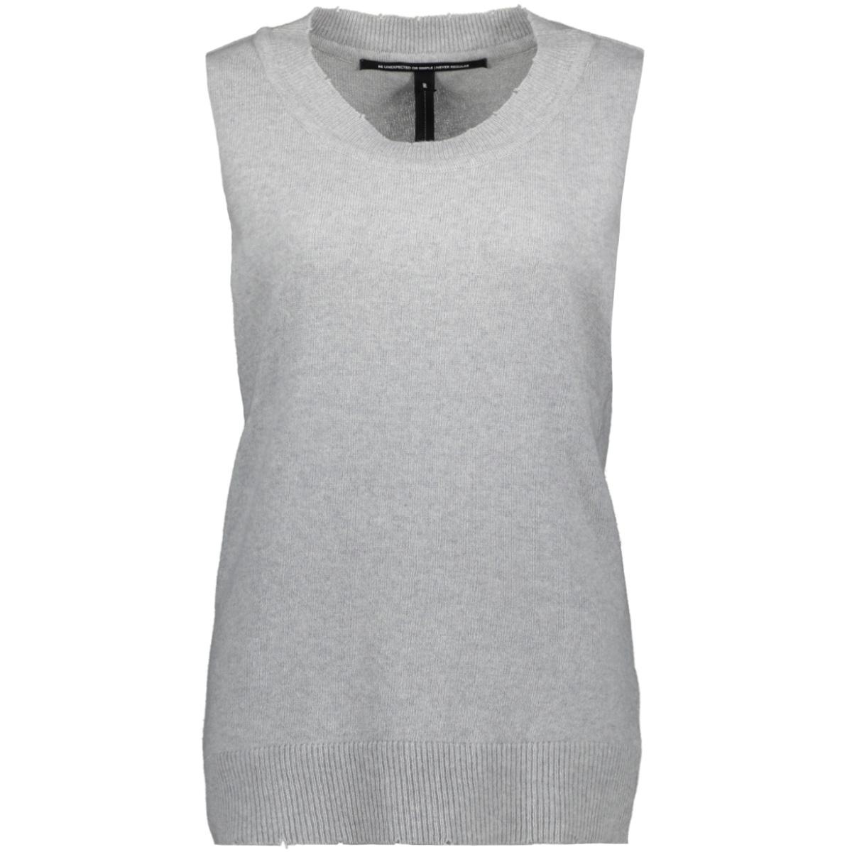 sleeveless sweater 20 617 8103 10 days top light grey melee