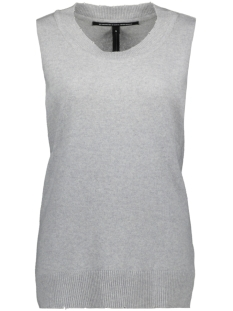 10 Days Top SLEEVELESS SWEATER 20 617 8103 LIGHT GREY MELEE
