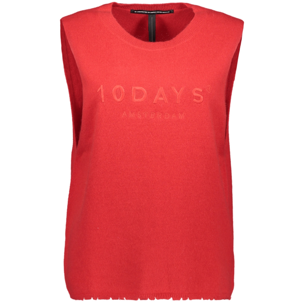 sleeveless sweater 20 602 8103 10 days top fluor red