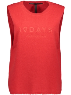 10 Days Top SLEEVELESS SWEATER 20 602 8103 FLUOR RED
