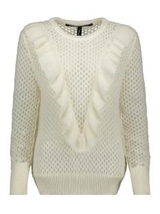 sweater ruffles 20 614 8103 10 days trui ecru