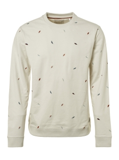 allover embroidered crewneck sweater 92110901 no-excess sweater 017
