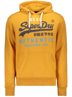 vintage authentic tri hood m2000069b superdry sweater golden yellow