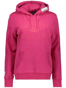 Superdry sweater TRACK AND FIELD HOOD W2000049A CABARET PINK
