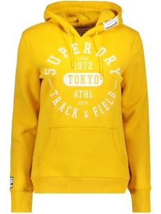 Superdry sweater TRACK AND FIELD HOOD W2000049A RIO YELLOW