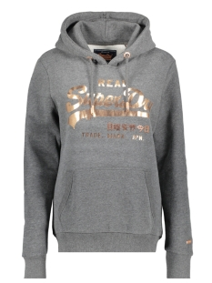 Superdry sweater METALWORK ENTRY HOOD W2000059A CHARCOAL MARL