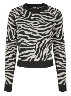 Urban Classics sweater SHORT TIGER SWEATER TB3033 BLACK/GREY