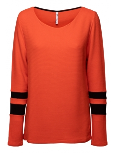 Zoso sweater DORY FANTASY FABRIC SWEATER 194 ORANGE/BLACK