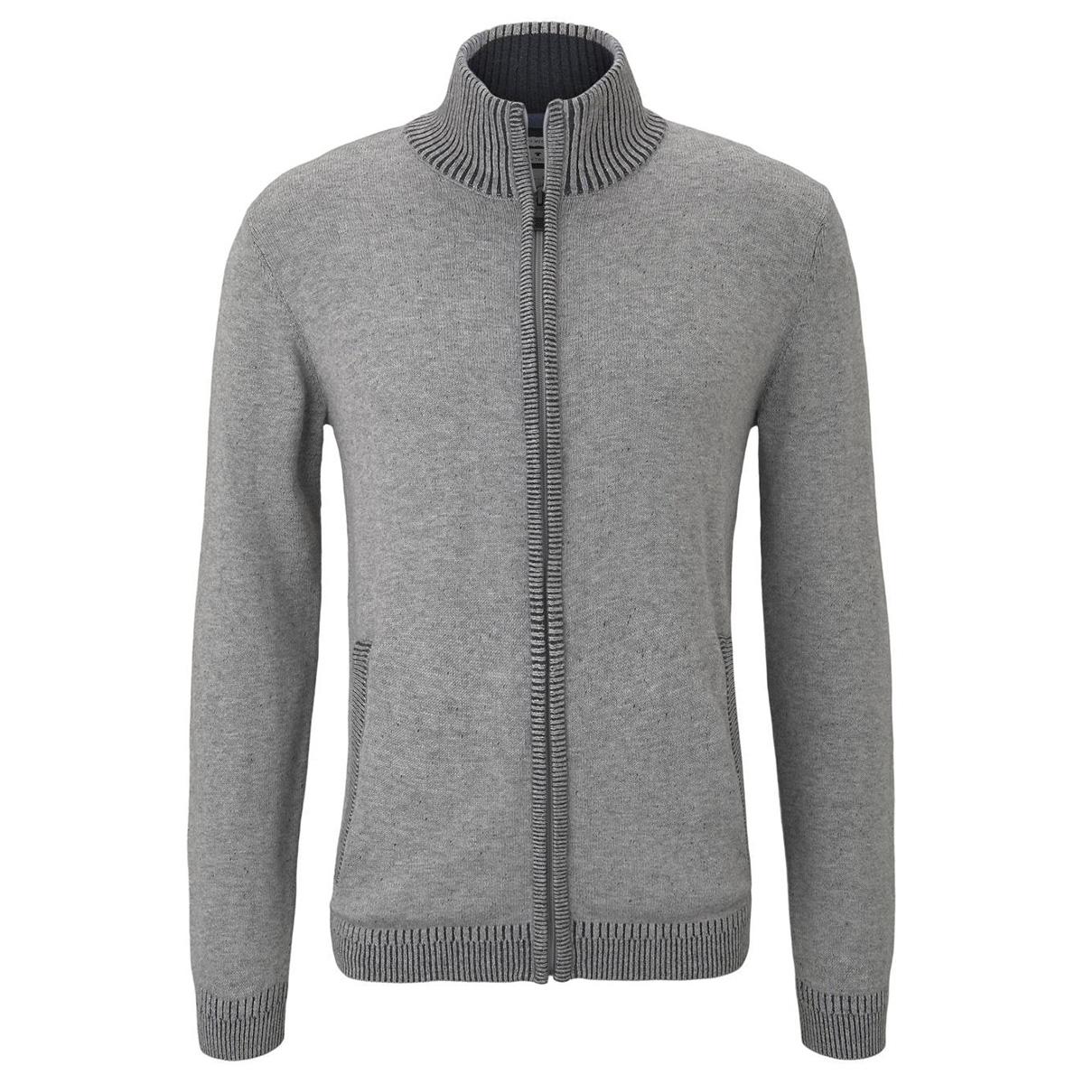 gemeleerd vest met highneck 1012507xx10 tom tailor vest 18965