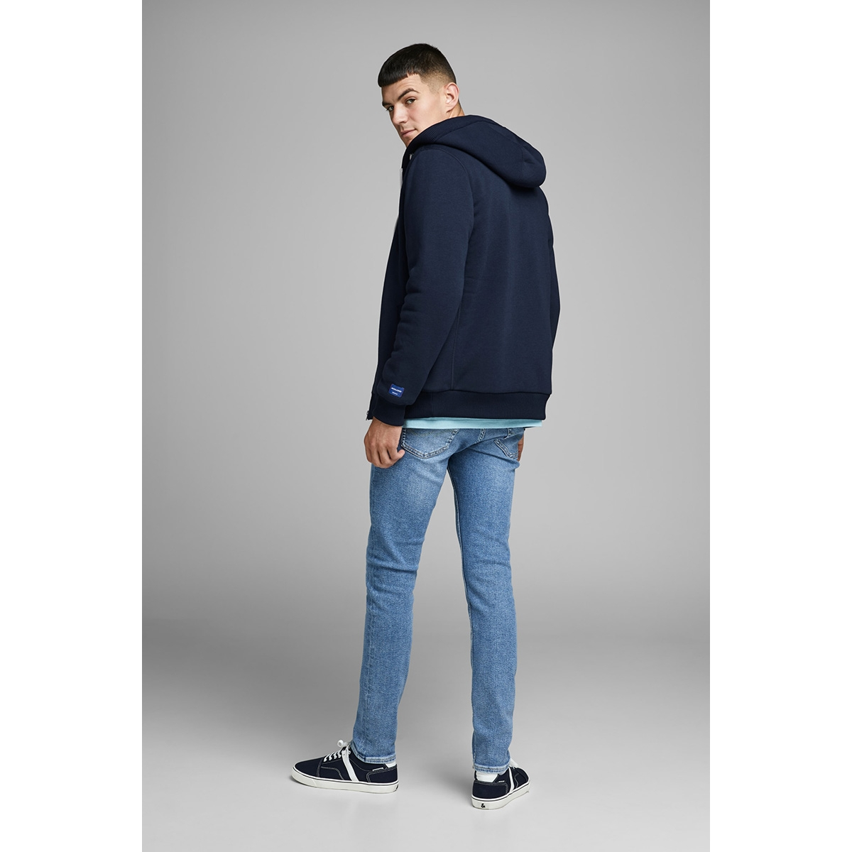 jorted sweat zip jacket 12161793 jack & jones vest navy blazer