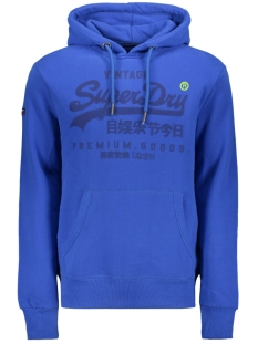 Superdry sweater PREMIUM GOODS TONAL HOOD M20355NT ROYAL BLUE