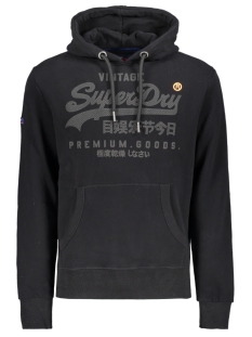 Superdry sweater PREMIUM GOODS TONAL HOOD M20355NT BLACK