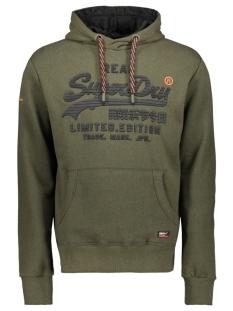 Superdry sweater VINTAGE LOGO FERO HOOD M20365NT DARK OLIVE GRIT
