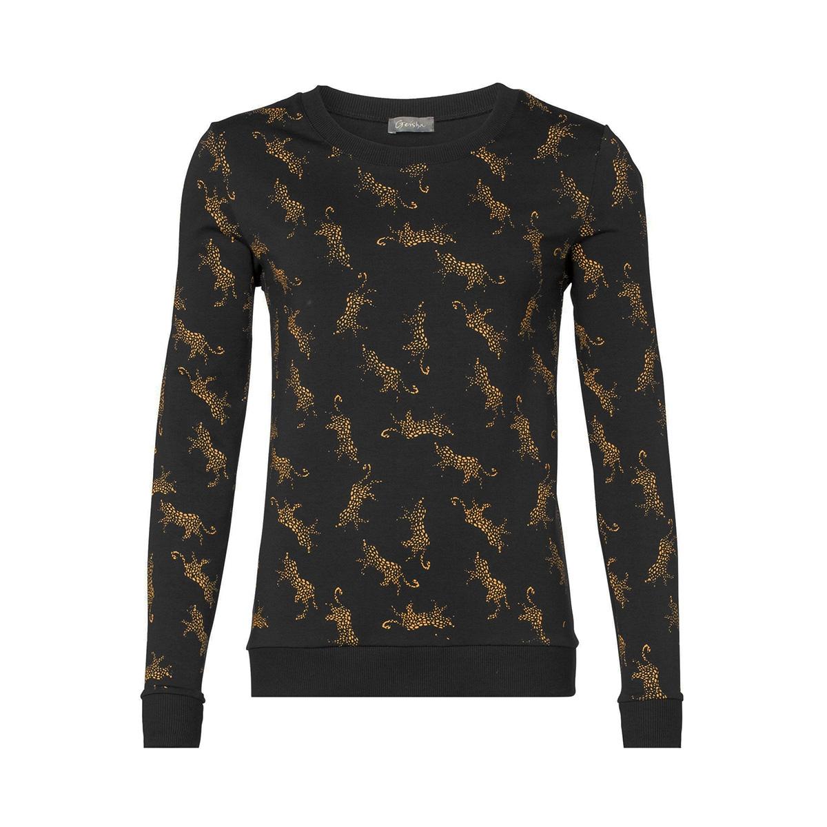 sweat aop leopards 93890 41 geisha sweater 000999 black/yellow