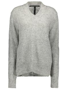 v neck sweater 20 607 9104 10 days trui light grey melee