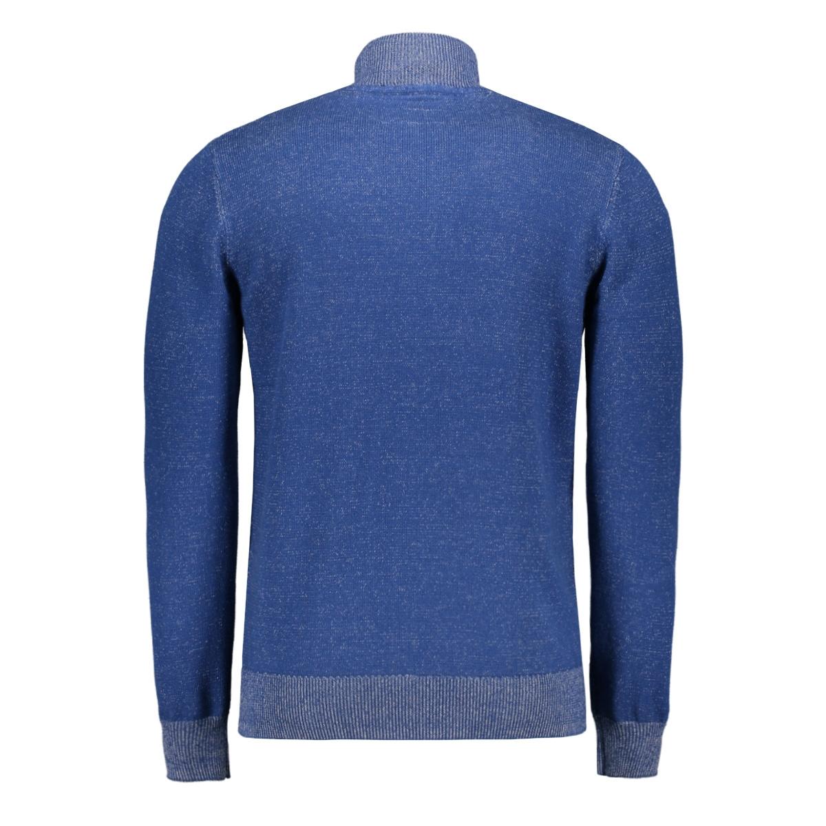 gemeleerde trui met rits 1015191xx10 tom tailor trui 16340