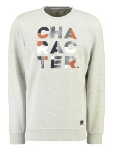 Garcia sweater SWEATER MET TEKST L91065 66 grey melee