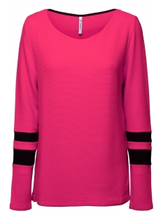 Zoso Trui DORY FANTASY FABRIC SWEATER 194 FUSHSIA/BLACK