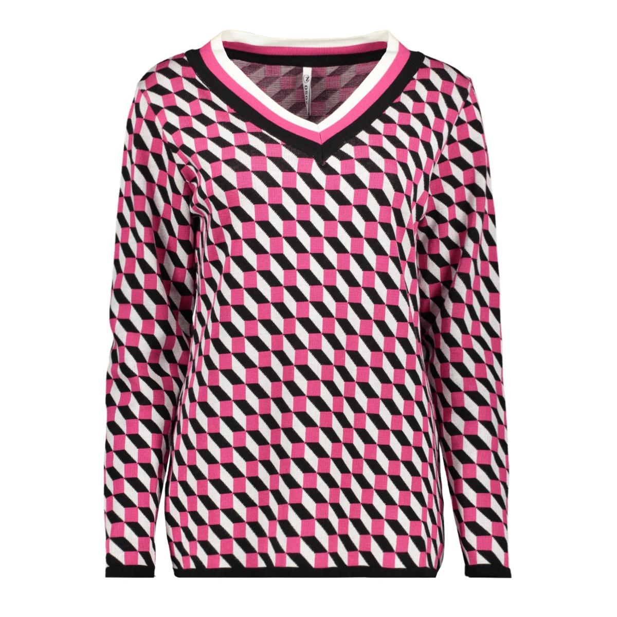 kentra multicolour sweater 194 zoso trui black/fuchsia