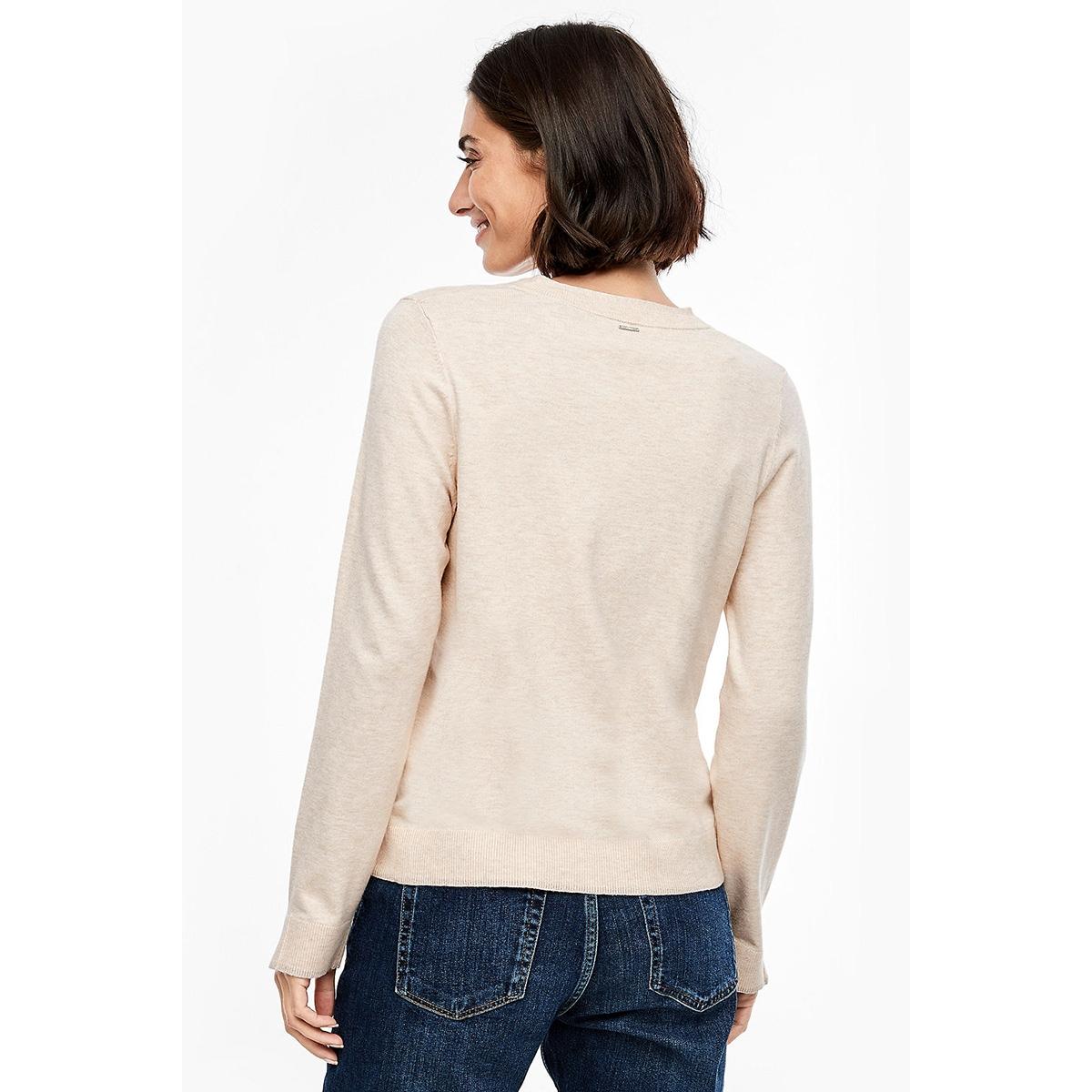 gemeleerde trui met v hals 14911616604 s.oliver trui 81w1