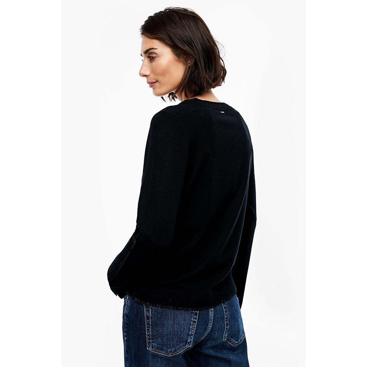 gemeleerde trui met v hals 14911616604 s.oliver trui 9999