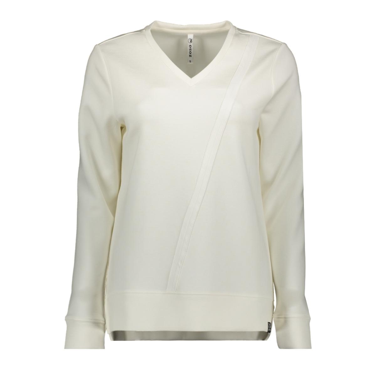 195 happy luxury fabric sweater zoso sweater off white