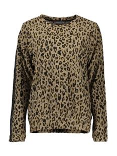 Geisha sweater SWEAT AOP LEOPARD WITH RIB TAPE 93868 Camel