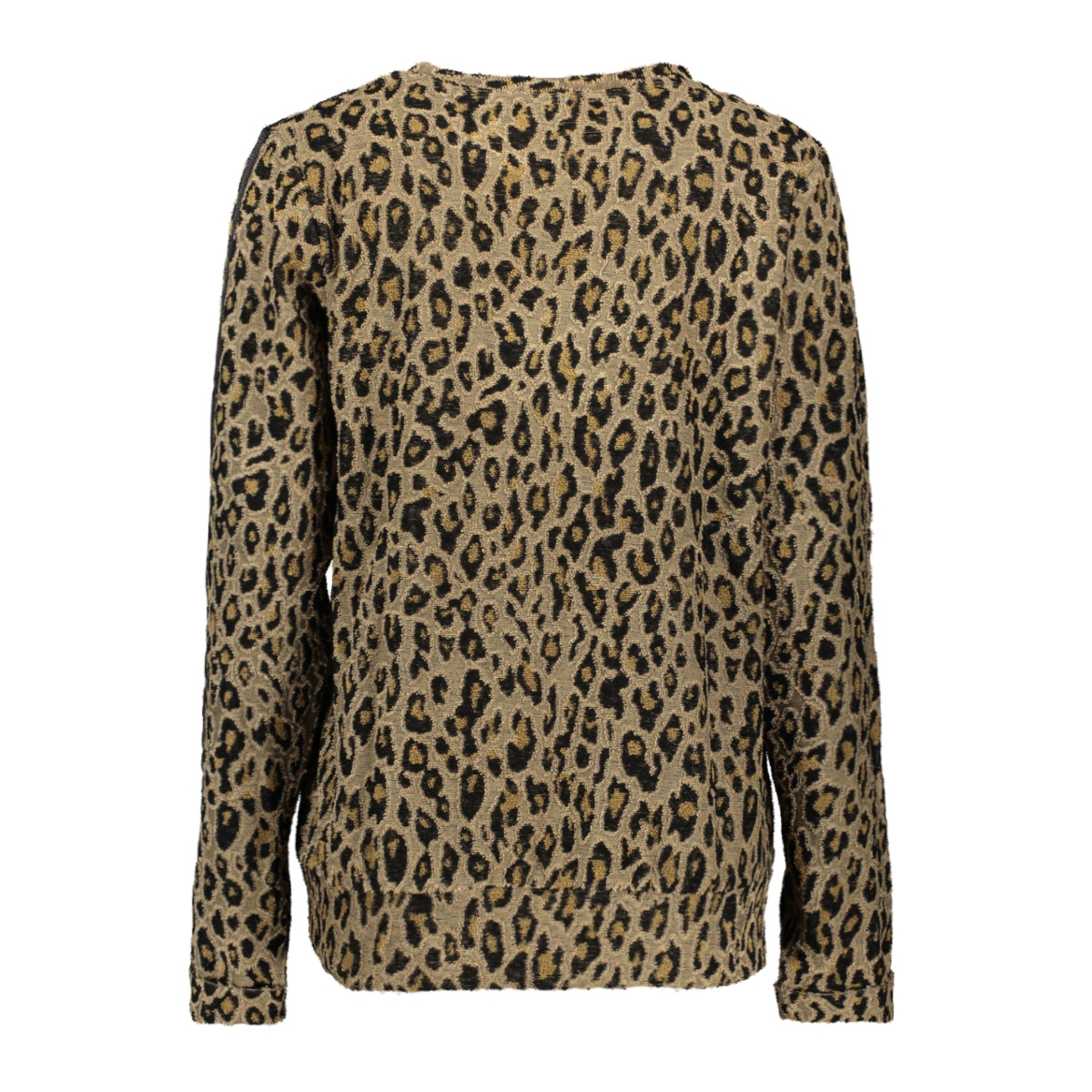 sweat aop leopard with rib tape 93868 geisha sweater camel