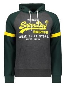 vl sweat shirt stone colourblock hood m2000136b superdry sweater graphite dark marl